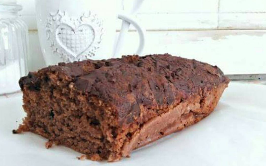 Plum cake vegano de chocolate