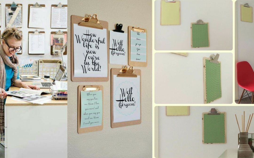 Decorando con clipboards