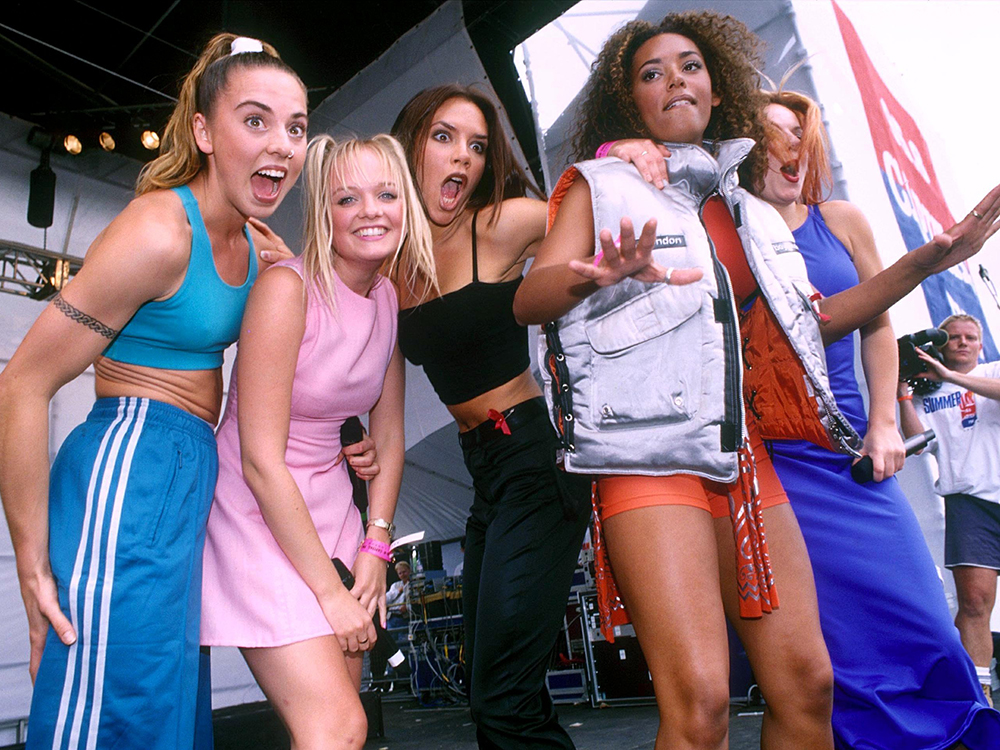 Mandatory Credit: Photo by Stephen Sweet/REX/Shutterstock (261364f) SPICE GIRLS Capital Radio Summer Jam, Clapham Common, London, Britain - 1996