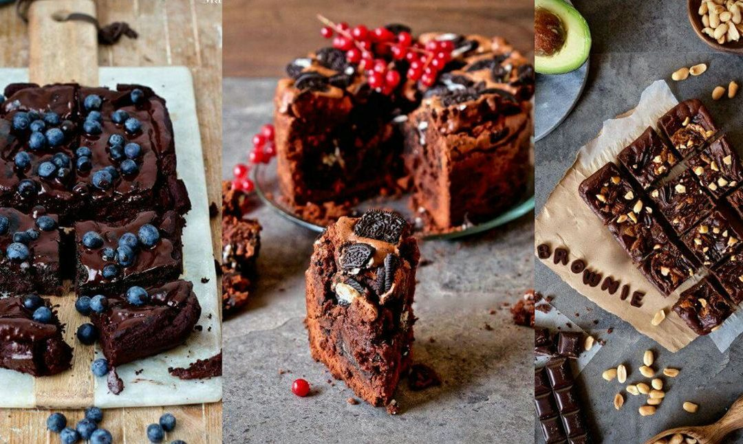 Brownies gourmet, cinco tipos