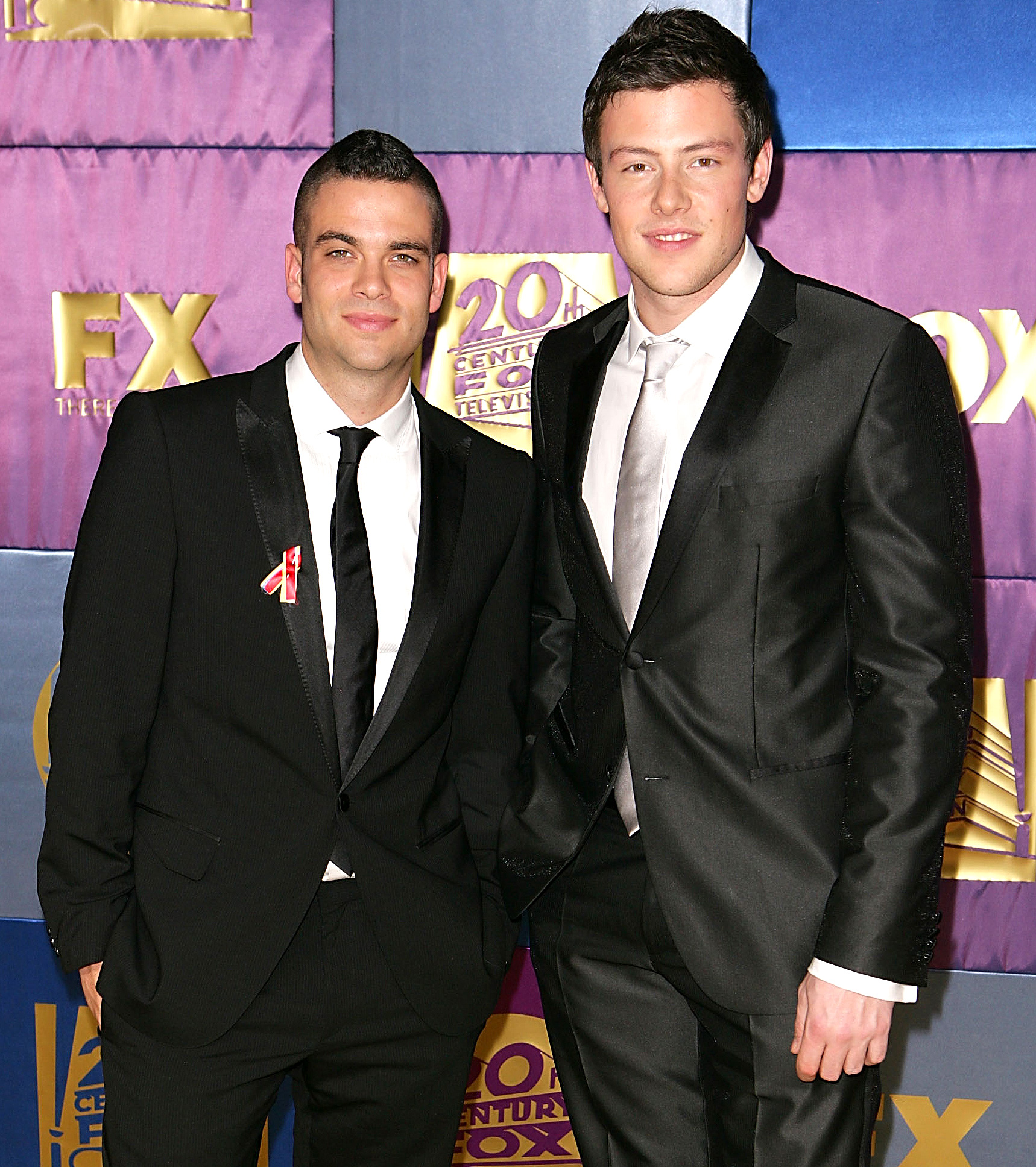 CENTURY CITY, CA - JANUARY 17:  Cory Monteith and Mark Salling of Glee arrive at FOX Hosts 2010 Golden Globe Nominees Party at Craft on January 17, 2010 in Century City, California.  (Photo by Joe Scarnici/FilmMagic)