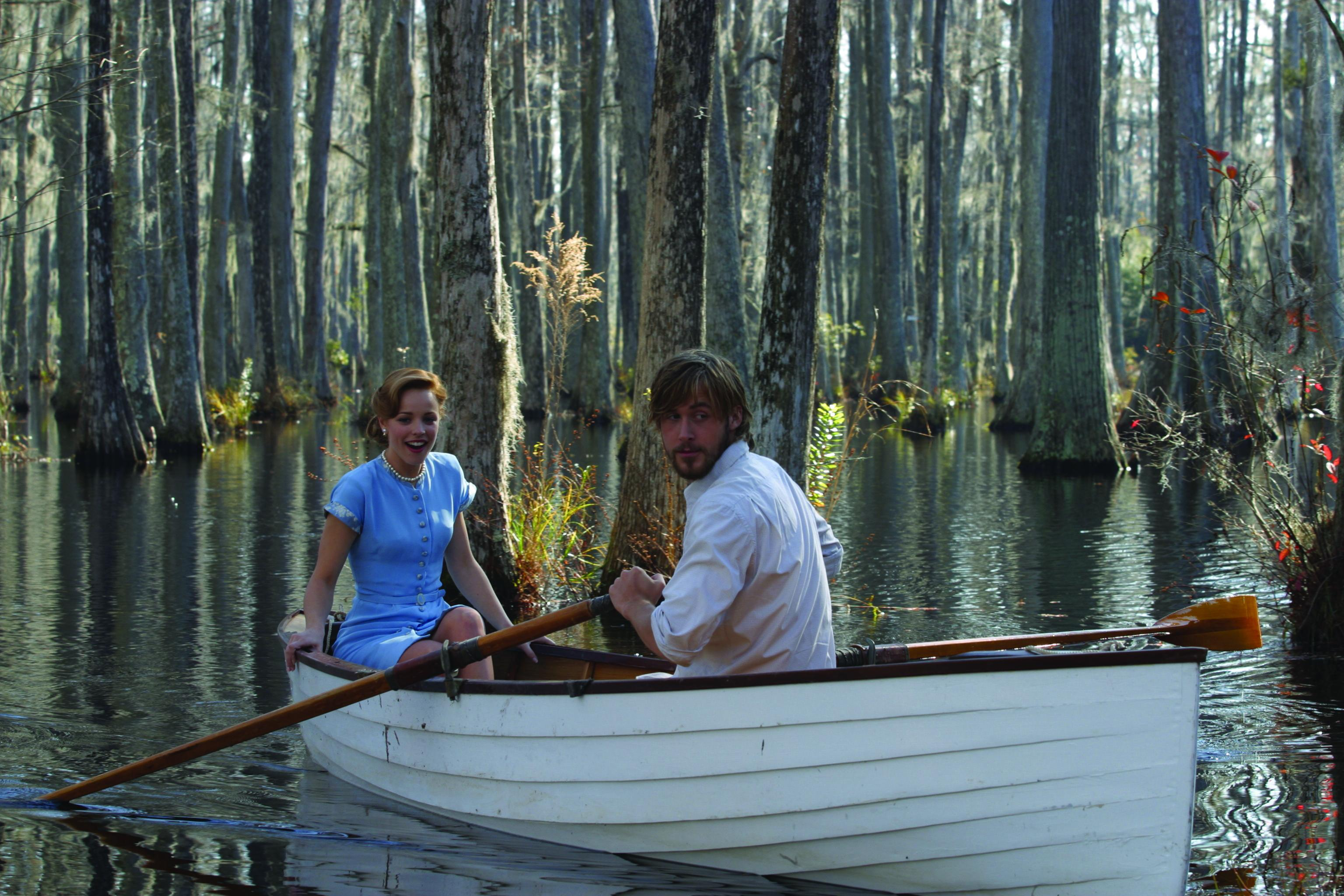 """No Merchandising. Editorial Use Only. No Book Cover Usage Mandatory Credit: Photo by Snap Stills/REX/Shutterstock (2168818e) Rachel McAdams (left) stars as """"Allie"""" and Ryan Gosling (left) stars as """"Noah"""" The Notebook. - 2004"""