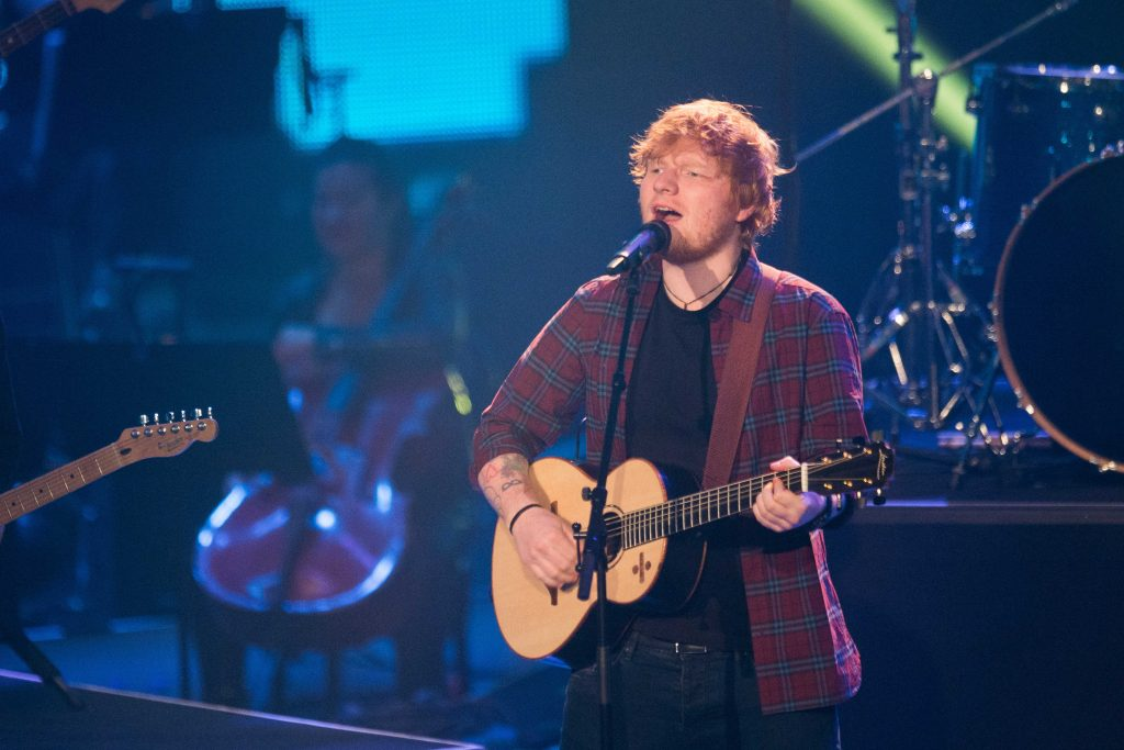 Mandatory Credit: Photo by BabiradPicture/REX/Shutterstock (9297542h) Ed Sheeran Final of 'The Voice of Germany', Berlin, Germany - 17 Dec 2017