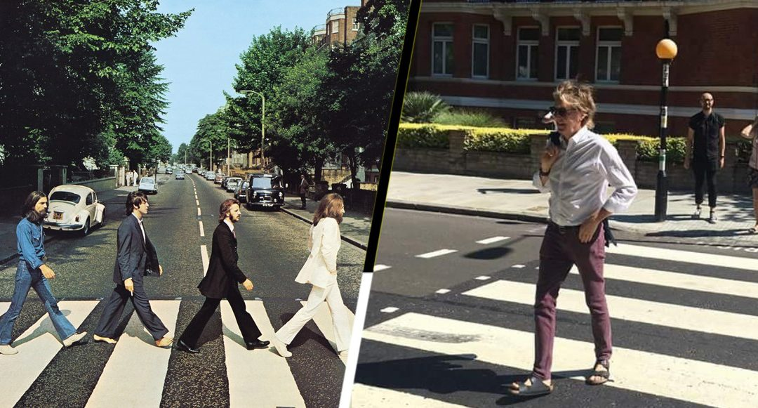Paul McCartney cruzó Abbey Road 49 años después de la portada del icónico disco