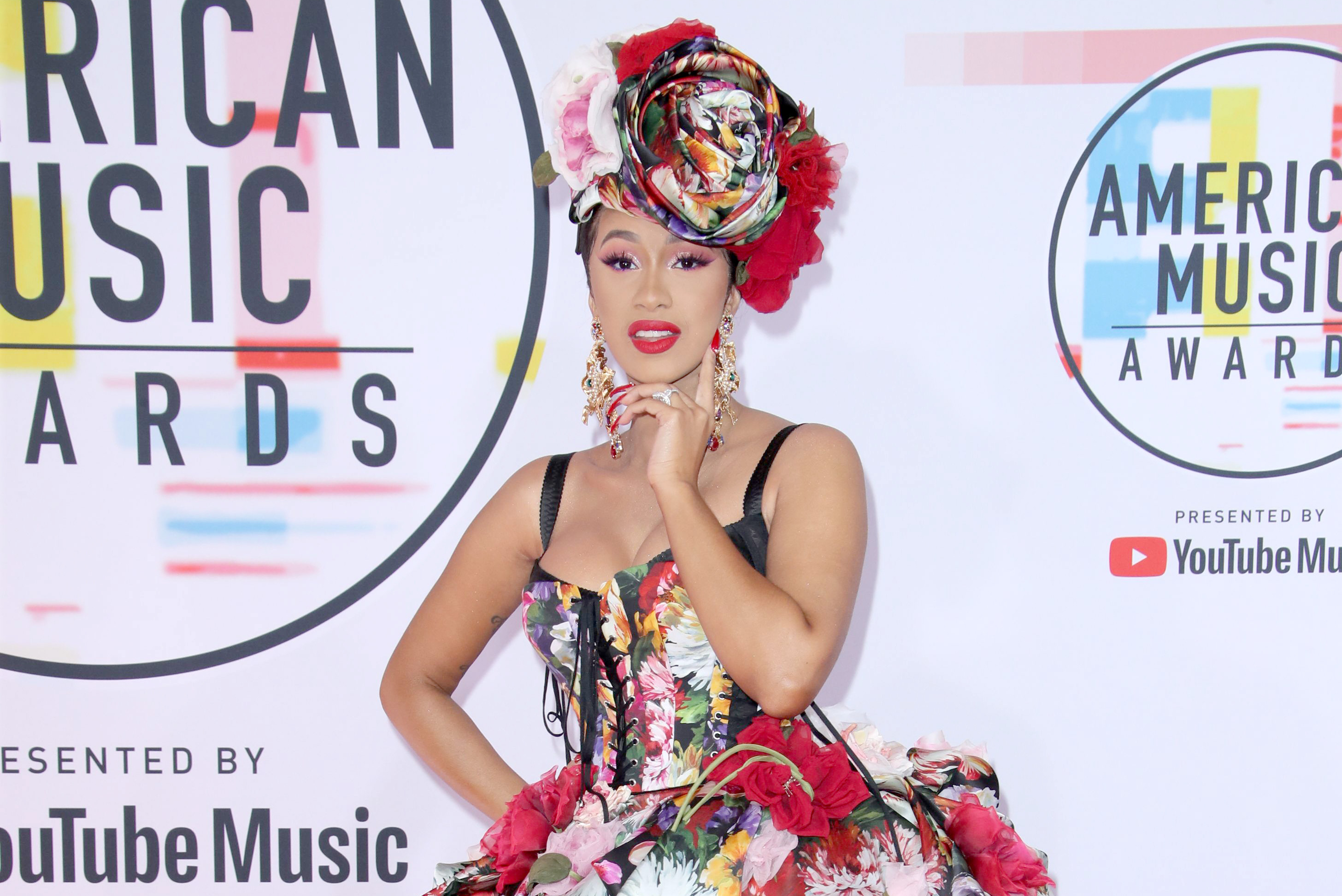 Mandatory Credit: Photo by Matt Baron/REX/Shutterstock (9919808et) Cardi B American Music Awards, Arrivals, Los Angeles, USA - 09 Oct 2018