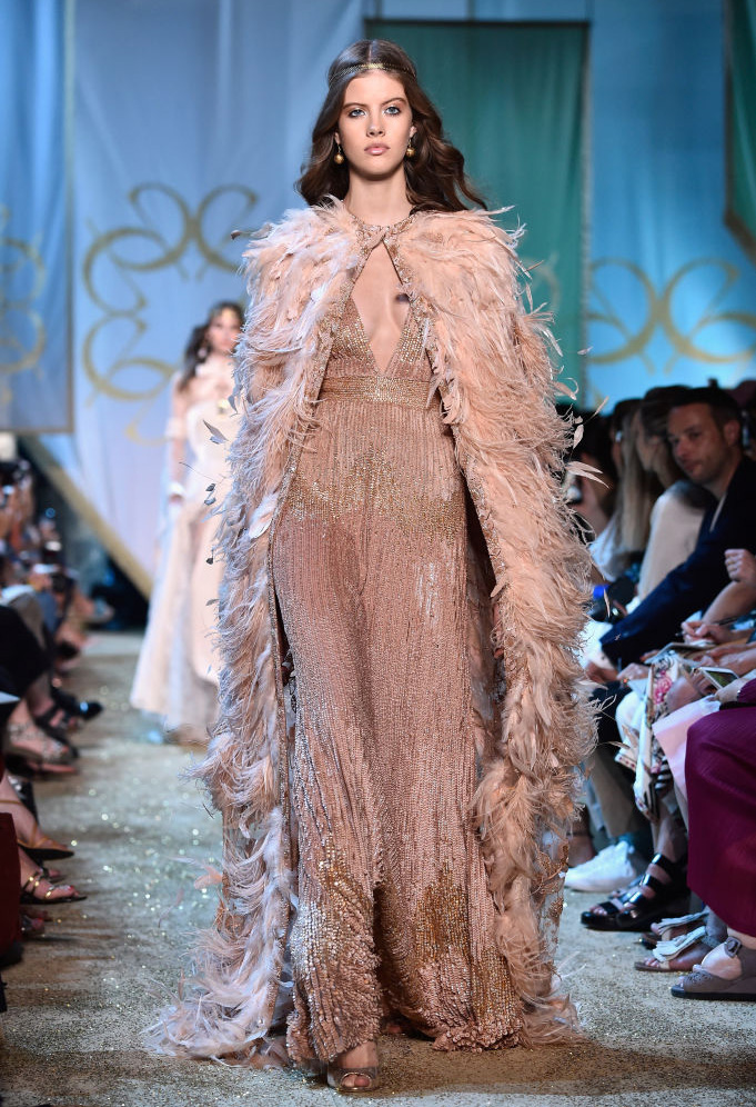 PARIS, FRANCE - JULY 05: A model walks the runway during the Elie Saab Haute Couture Fall/Winter 2017-2018 show as part of Haute Couture Paris Fashion Week on July 5, 2017 in Paris, France. (Photo by Pascal Le Segretain/Getty Images)