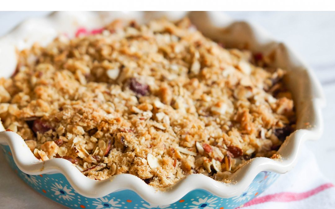 Crumble de peras, espectacular