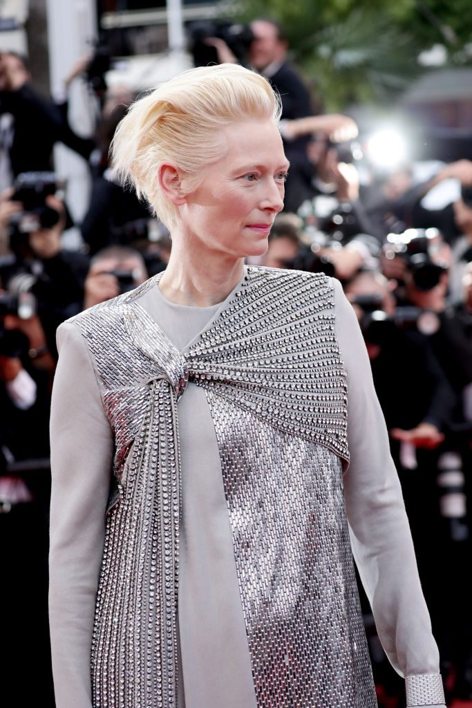 "CANNES, FRANCE - MAY 14: Tilda Swinton attends the opening ceremony and screening of ""The Dead Don't Die"" during the 72nd annual Cannes Film Festival on May 14, 2019 in Cannes, France. (Photo by Vittorio Zunino Celotto/Getty Images)"