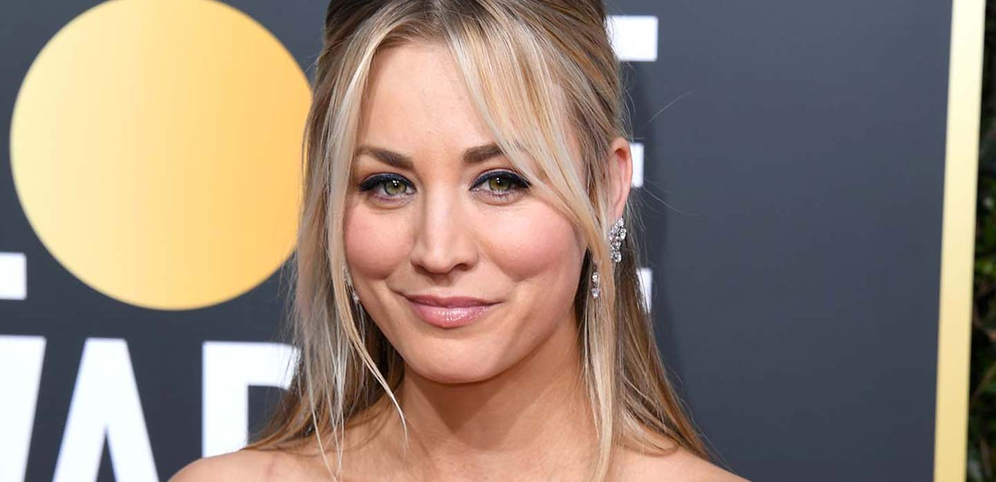 BEVERLY HILLS, CA - JANUARY 06: Kaley Cuoco attends the 76th Annual Golden Globe Awards at The Beverly Hilton Hotel on January 6, 2019 in Beverly Hills, California.  (Photo by Jon Kopaloff/Getty Images)
