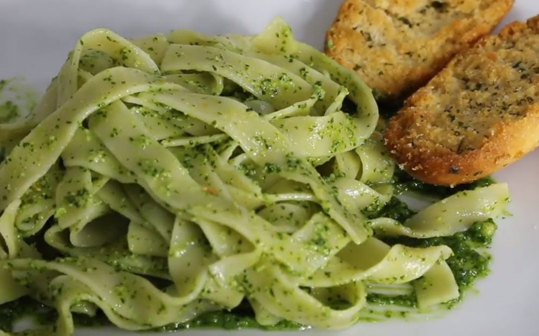 Tallarines al pesto, espectacular
