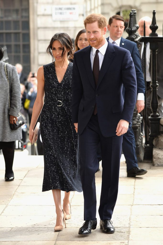 LONDON, ENGLAND - APRIL 23:  Prince Harry and Meghan Markle attend the 25th Anniversary Memorial Service to celebrate the life and legacy of Stephen Lawrence at St Martin-in-the-Fields on April 23, 2018 in London, England.  (Photo by Jeff Spicer/Getty Images)