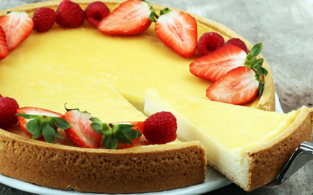 Cheesecake de chocolate blanco, espectacular