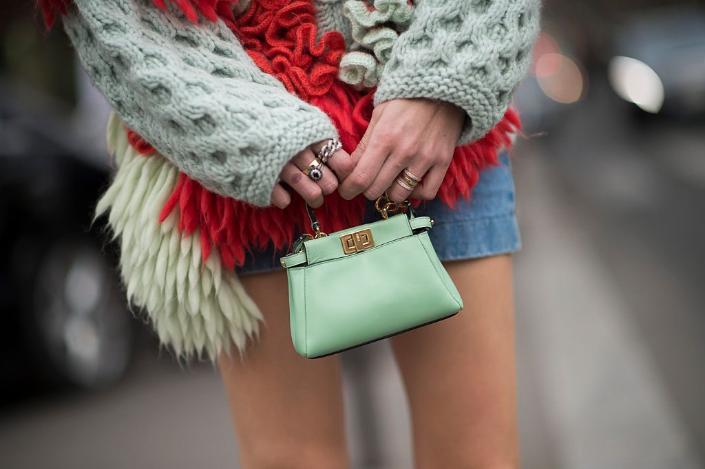 PARIS, FRANCE - MARCH 09:  Chiara Ferragni is wearing Delpozo top shoes from Chiara Ferragni Collection and a bag from Fendi in the streets of Paris during the Paris Fashion Week on March 9, 2015 in Paris, France.  (Photo by Timur Emek/Getty Images)