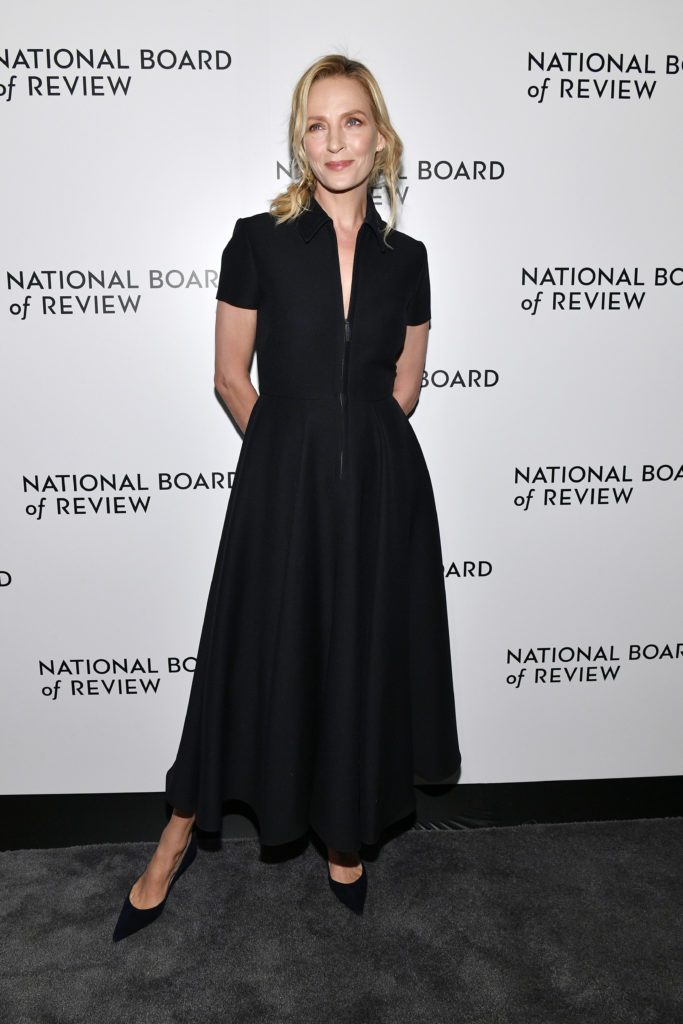 NEW YORK, NEW YORK - JANUARY 08: Uma Thurman attends the 2020 National Board Of Review Gala on January 08, 2020 in New York City. (Photo by Dia Dipasupil/Getty Images)