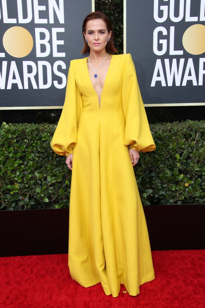 Mandatory Credit: Photo by Shutterstock (10517029fg) Zoey Deutch 77th Annual Golden Globe Awards, Arrivals, Los Angeles, USA - 05 Jan 2020 Wearing Fendi Custom