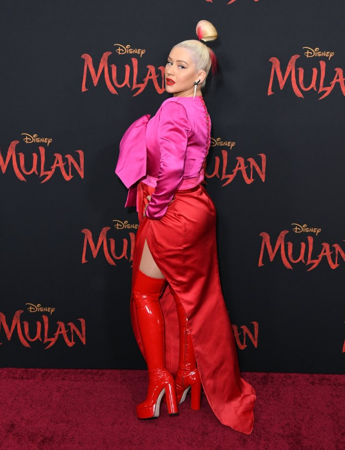 "Disney's ""Mulan"" Los Angeles Premiere held at Dolby Theater.  Photo Credit: Birdie Thompson/AdMedia Pictured: Christina Aguilera Ref: SPL5155372 090320 NON-EXCLUSIVE Picture by: Birdie Thompson/AdMedia / SplashNews.com Splash News and Pictures Los Angeles: 310-821-2666 New York: 212-619-2666 London: +44 (0)20 7644 7656 Berlin: +49 175 3764 166 photodesk@splashnews.com World Rights"